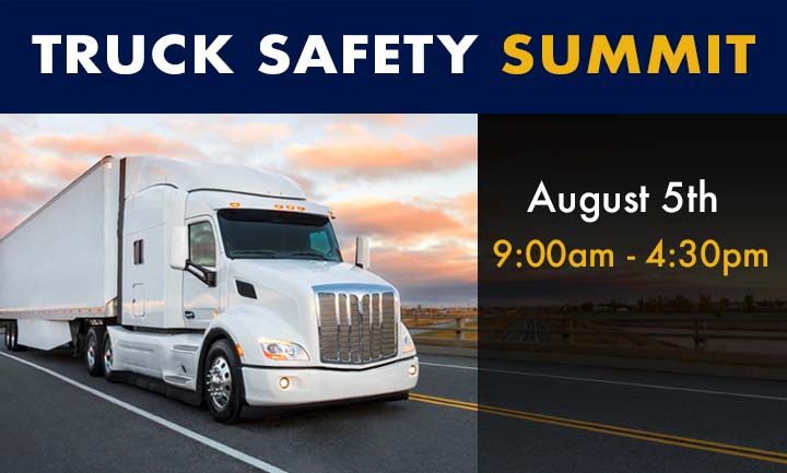 """The FMCSA 2020 Trucking Safety Summit"", which will be held virtually on August 5, 2020"