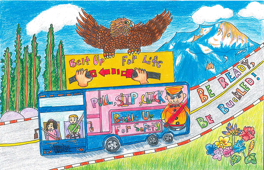 Road Safety Art Contest Past Grand Prize Winners Federal Motor