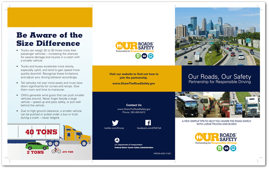Our Roads Our Safety Brochure screenshot