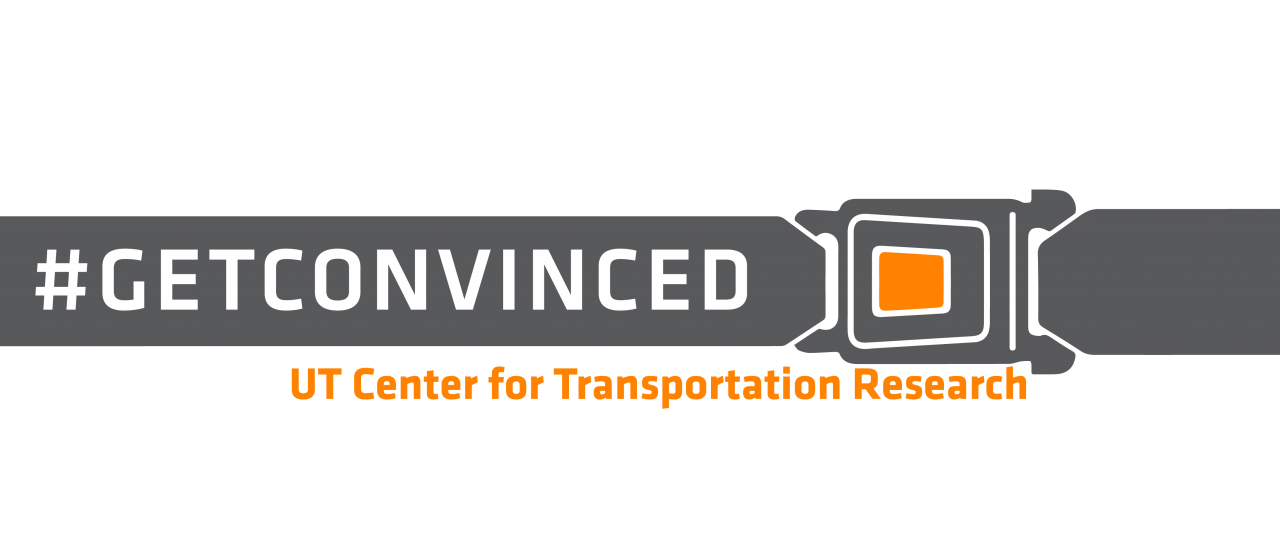 "UT Center for Transportation Research logo ""#getconvinced"""