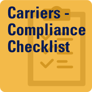 Carriers Compliance Checklist