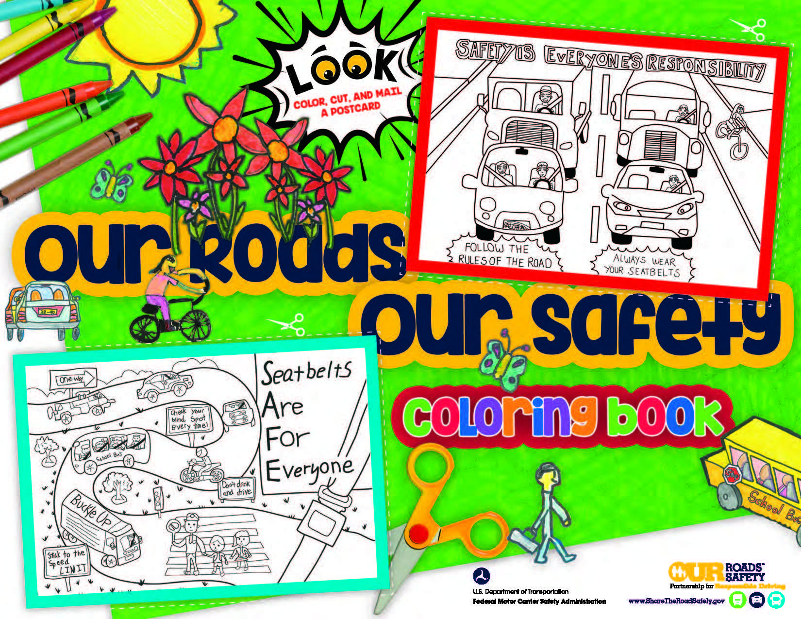 Road Safety Art Contest Coloring Book