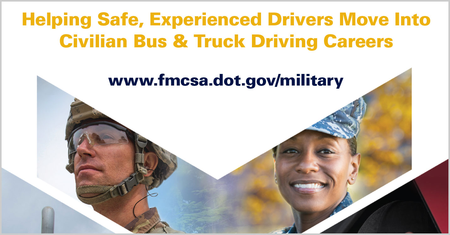 FMCSA Military Driver Programs Poster 11x17
