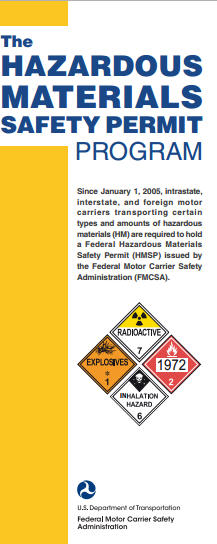 Hazardous materials brochures federal motor carrier for Federal motor carrier safety regulations pdf