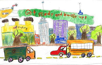 Drawing by 2013 K-2 grade winner Caleb Zhao Gaithersburg, MD