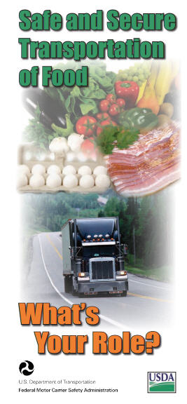 """Safe and Secure Transportation of Food - What's Your Role?"" Brochure"