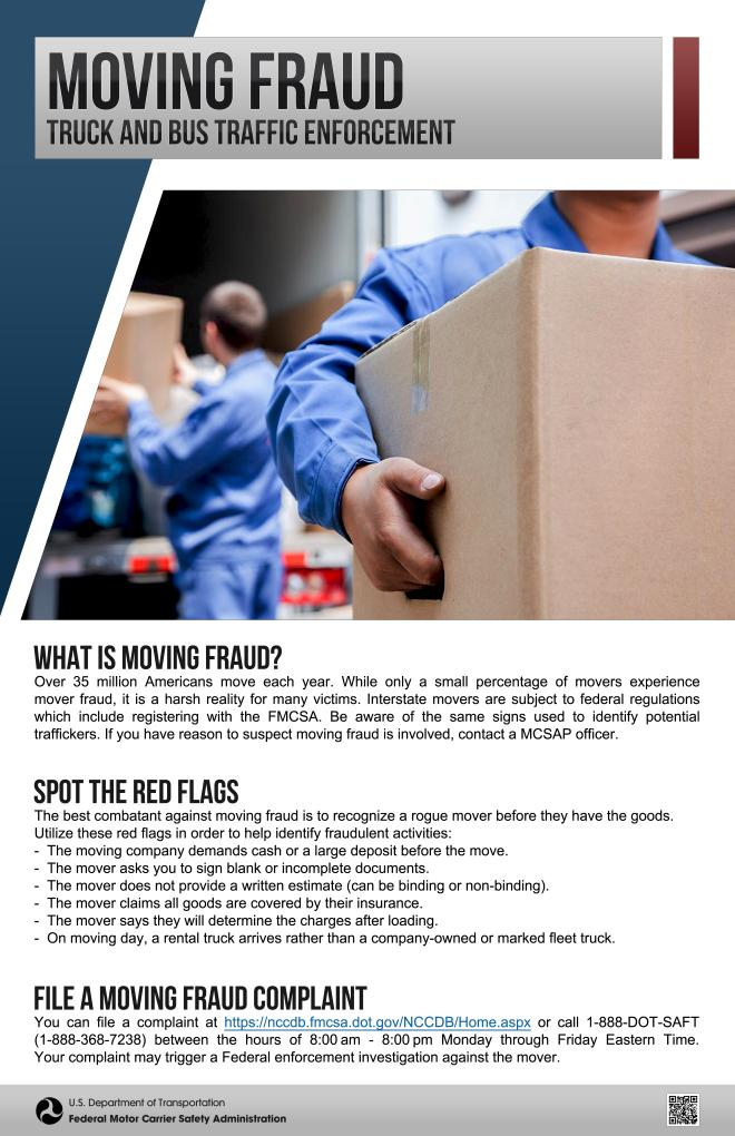 Moving Fraud Poster