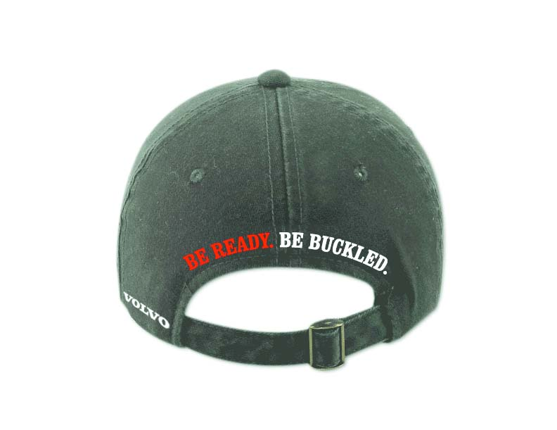 Back of Hat: BE READY. BE BUCKLED.