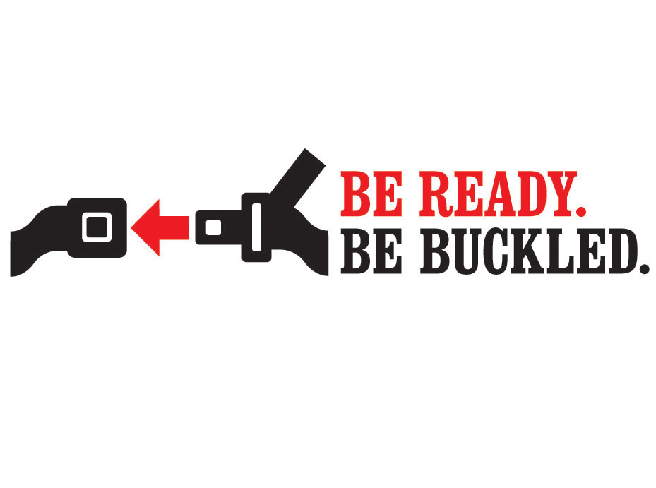 Be Ready, Be Buckled. logo