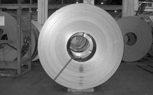 Coil of rolled sheet metal