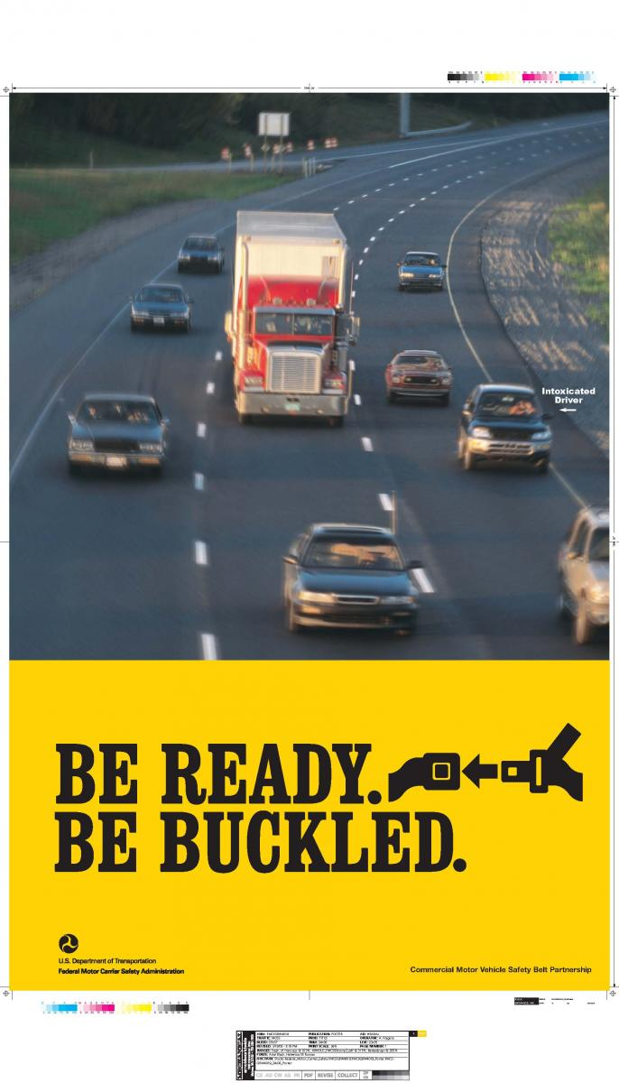Poster: BE READY. BE BUCKLED.