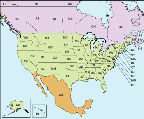 United States Canada And Mexico Map U.S.   Canada   Mexico Cross Border Operations   by Jurisdiction