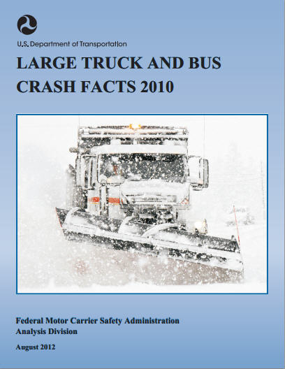 cover of the Large Truck and Bus Crash Facts 2010 pamphlet