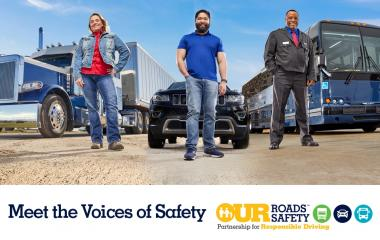 FMCSA's new effort to raise awareness on sharing the road safely with large trucks & buses.