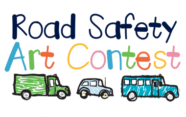 Students reinforce important road safety messages using originality and creativity.
